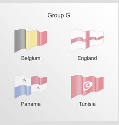 flag group g world football championship vector image