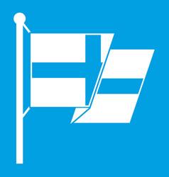 Flag of sweden icon white vector