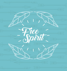Free spirit cartoon scene vector