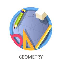 Geometry subject scientific school and university vector