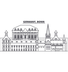 Germany bonn line skyline vector