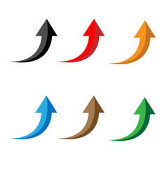 glossy arrows icon on white background arrow vector image