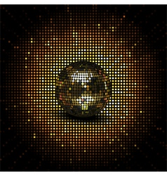 gold reflective disco ball vector image