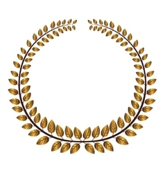 Gold wreath icon vector