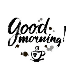 Good morning lettering text vector
