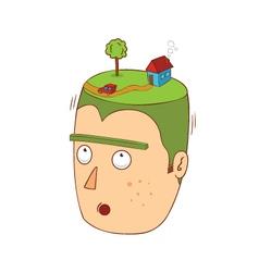 House over my head vector