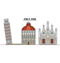 italy pisa city skyline architecture buildings vector image