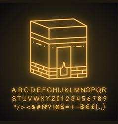 Kaaba neon light icon vector