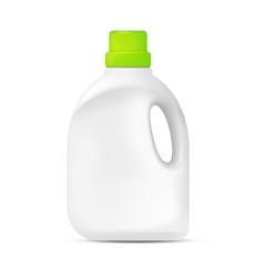 laundry detergent plastic bottle vector image