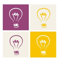 Light bulb icon symbol on colorful backgrounds vector image