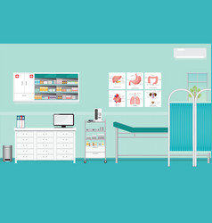 Medical examination or medical check up interior vector