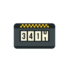 Meter taxi icon in flat style vector