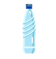 Mineral water in bottle isolated on white vector