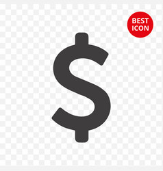 modern icon dollar symbol saving money flat vector image