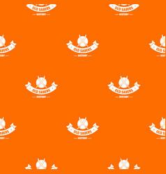 old saber pattern orange vector image