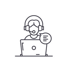 Online counseling line icon concept online vector