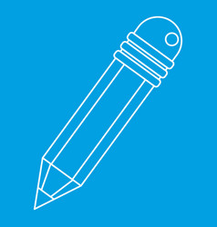Pencil icon outline style vector