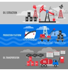 Petroleum Banner Set vector