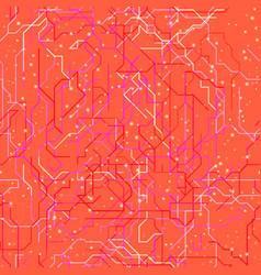 pink map of subway vector image