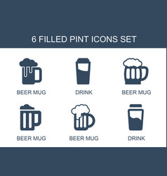 Pint icons vector