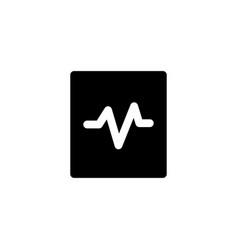 pulse cardiogram icon vector image