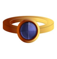 purple gemstone ring icon cartoon style vector image