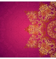 Purple ornate vintage wedding card background vector image
