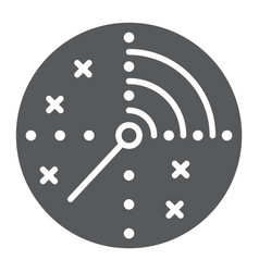Radar glyph icon military and navy target sign vector