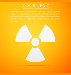 Radiation symbol icon on yellow background vector