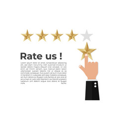 Rate 5 stars vector