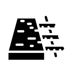 Reinforced concrete floor glyph icon vector