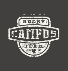 Rugcampus team badge with shabtexture vector