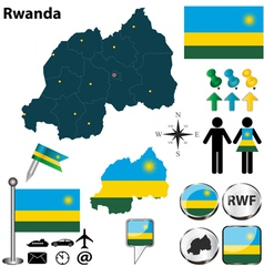 Rwanda map vector