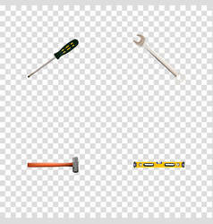 Set of instruments realistic symbols with vector
