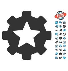 Star Favorites Options Gear Icon With Free Bonus vector