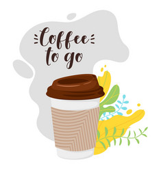 t-shirt design coffee vector image