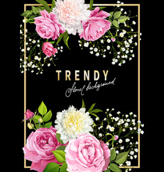 trendy floral background vector image