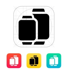 Two sizes of smart watches icon vector image