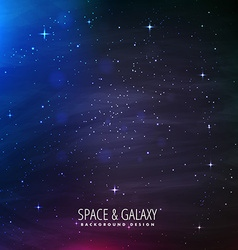 universe background with starlights vector image