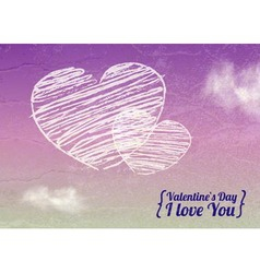 valentine love heart background vector image