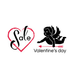 valentines day sale card vector image
