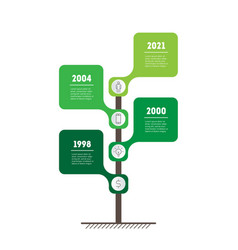 Vertical timeline or infographics with 4 options vector