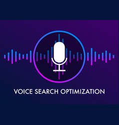 Voice search optimization banner and icons vector