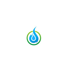 water ecology droplet abstract logo vector image