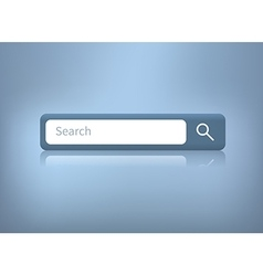 Web search bar on blue vector
