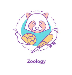 Zoology concept icon vector
