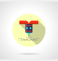 cnc laser flat round icon vector image