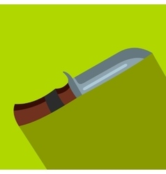 Hunting knife flat icon vector image vector image