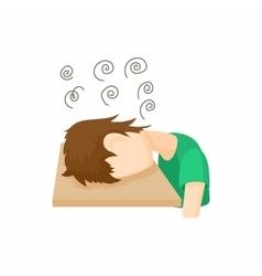 Stressed man icon cartoon style vector image