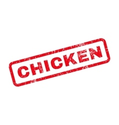 Chicken Text Rubber Stamp vector image vector image